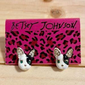 Betsey Johnson French Bulldog Earrings